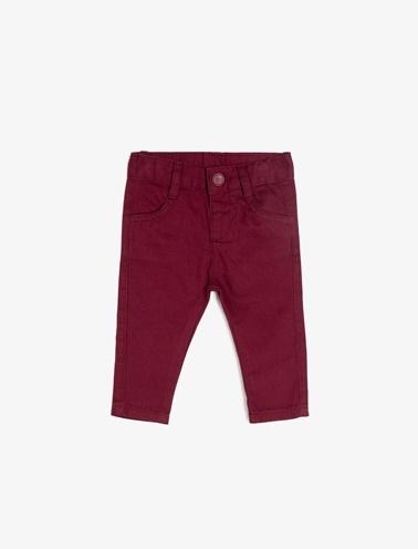 Koton Kids Cep Detaylı Pantolon Bordo